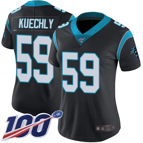 cheap jerseys ncaa Women\'s Carolina Panthers #59 Luke Kuechly Black Team Color Stitched 100th Season Vapor Limited Jersey chinese website for jerseys