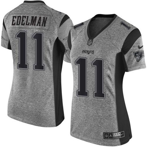 wholesale jerseys in usa Women\'s New England Patriots #11 Julian Edelman Gray Stitched Limited Gridiron Gray Jersey cheap nfl jerseys china wholesale